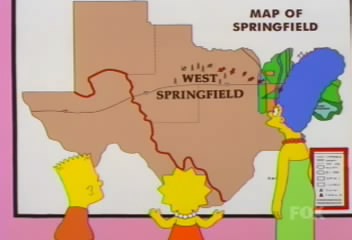 The Simpsons Archive Where Is The Simpsons Springfield - Simpons us map vs real voters map